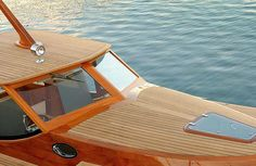 """The by Spirit Yachts is, and I say this without reservation, one of the most beautiful production boats in the world. The 40 foot powerboat is hand made from nature's carbon composite or """"wood"""" as it's commonly known. Cool Boats, Small Boats, Speed Boats, Power Boats, Spirit Yachts, Utility Boat, Classic Wooden Boats, Deck Boat, Cabin Cruiser"""