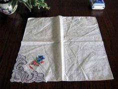 8598 レース 刺繍 ハンカチ 敷物 イギリス 英国 アンティーク Antique ¥580円 〆03月17日