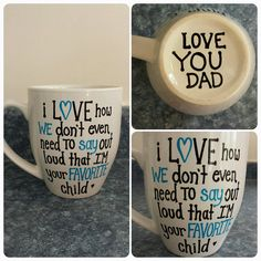 Fathers Day favorite child mug by sarahmarie28 on Etsy, $14.00