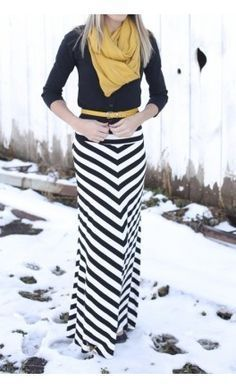 Replace yellow with red and you're all set.  Those diagonal stripes are quite flattering.