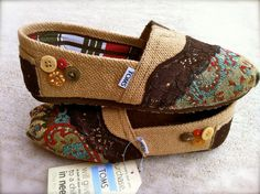 Custom Fabric upholstered Toms by FlavorfulFish on Etsy, $48.00