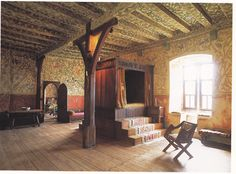 Fifteenth century bedroom at Burg Eltz castle, Germany.