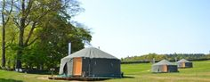 Stay in a yurt at Bivouac in the Yorkshire Dales.