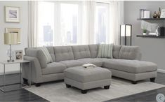 Home Reno Ryder Dove Gray Sectional Sofa from Emerald Home Grey Sectional Sofa, Living Room Decor, Home Room Design, Emerald Home Furnishings, Sectional Sofa, Sectional, Home, Home Furniture, Sofa Design