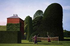 David Inshaw_ Myth, symbols and a mysterious sense of place define the works of the West Country's pastoral visionary Landscape Art, Landscape Paintings, Landscapes, Badminton Games, Tate Gallery, The Spectator, David, River Bank, Fantasy Places