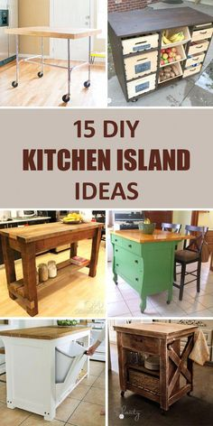 Home Remodeling Diy 15 Awesome DIY Kitchen Island Ideas That Will Make Your Kitchen More Functional - Considering a kitchen remodel? Think about adding a kitchen island! Diy Furniture Videos, Diy Furniture Table, Diy Furniture Plans, Furniture Stores, Furniture Cleaning, Furniture Nyc, Rustic Furniture, Inexpensive Furniture, Furniture Websites