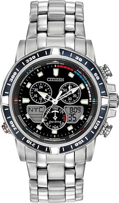 Feel the adrenaline rush from the ocean with the new Sailhawk yacht timer from CITIZEN® Eco-Drive (JR4051-54L) $525