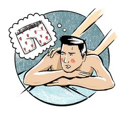 In the (Comfort) Zone. Shorts on or full monty? When it comes to massage, what's the etiquette on underwear? Illustration by Jim Janek. #FAQs