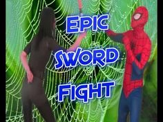 Epic sword fighting Spiderman in Real Life vs Catwoman Parody funny movi...