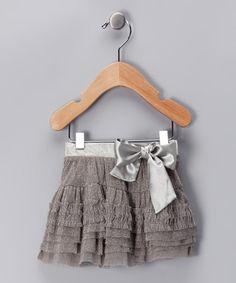 {Light Gray Glitter Ruffle Skirt by blü} Oh man is that cute!!!
