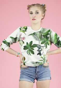Hey, I found this really awesome Etsy listing at https://www.etsy.com/listing/184575976/tropical-sweatshirt-yeah-bunny-summer