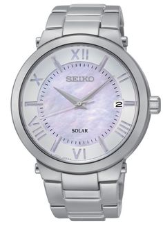 Ladies Seiko Solar watch with mother of pearl face