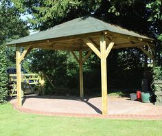 Every one love to spend his time in the beautiful open-air environment. To make your heartiest desire came true the designer of this gazebo have really done hard work.