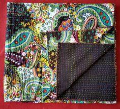 🐣. Offer Xtras! Black Hippie Indian Bedding Comforter Beautiful Decorative Quilt Kantha Gudari Handmade Bedspread Dohar Blanket Bed Cover Cotton Bohemian for $49.99 #IndianKantha #BohoKantha #KanthaQuilt #IndianThrow #KanthaThrow #BohemianQuilt #FloralKantha #IndianKanthaQuilt #CottonKantha #CottonQuilt Bohemian Quilt, Boho, Black Hippy, Indian Bedding, Chic Bedding, Cotton Quilts, Cotton Fabric, Kantha Stitch, Quilt Sizes