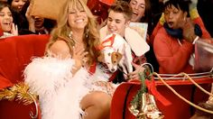 Justin Bieber and Mariah Carey's 'All I Want For Christmas' Video Debuts (Video) Beauty Editorial, Editorial Fashion, Justin Bieber Christmas, Mariah Carey Gif, Mariah Carey Christmas, Christmas Duets, Eve Instagram, Laugh Now Cry Later, Chance The Rapper