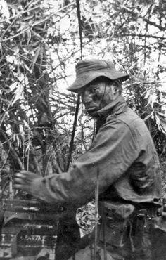 Radio operator Gary Shields pictured on his last operation in South Vietnam, 1969. ~ Vietnam War