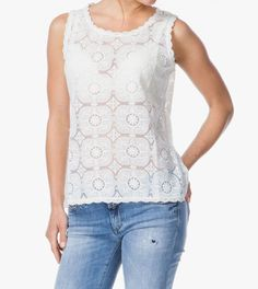 This is just such a beautiful sophisticated and feminine off-white lace top from Ilse Jacobsen.  It just a great piece for you wardrobe - team it up with your favourite jeans or trousers or use it to lift a rather dull looking suit into something just that bit more special. White Lace, Off White, Tunics, Trousers, Feminine, Tunic Tops, Suit, Jeans, Beautiful