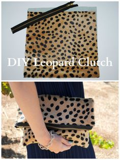 DIY Clare V Leopard Clutch. The must have clutch for fall at a quarter of the price. Check out the blog for details!