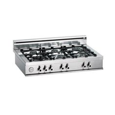 Pro-Style Gas Rangetop with 6 Sealed Burners, BTU Brass Power Burner, Continuous Grates, Electronic Ignition and Backguard Inc. Cheap Appliances, Rocket Stoves, Stainless Steel, Kitchen, Tub, Brass, Natural, House, Cucina
