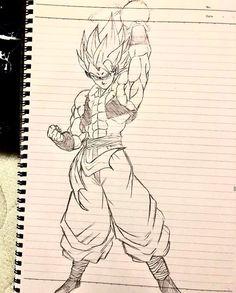 Anime Drawings Sketches, Easy Drawings, Dragon Ball Gt, Dragon Art, Goku Manga, Gogeta And Vegito, Ball Drawing, Pictures To Draw, Fan Art