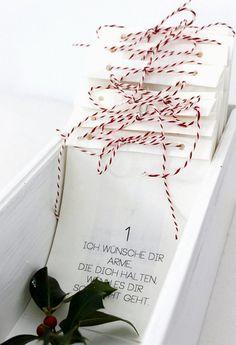 Adventskalender+WÜNSCHE+von+theartofvariety+auf+DaWanda.com