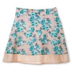 Junior's Skirt with Contrast Hem
