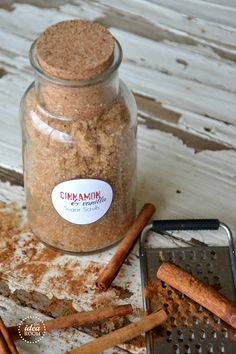 Make this simple and easy Cinnamon Vanilla Sugar Scrub recipe. Smells amazing and leaves your skin smooth and soft. Free recipe and printable label.