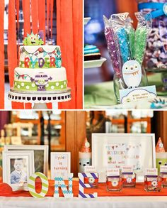 Monster Themed First Birthday {Korean Dol}