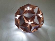 Origami-Lichterkugel