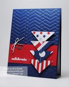 Patriotic card made with June 2014 Paper Pumpkin kit