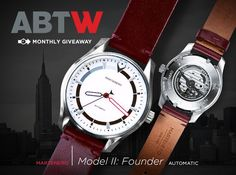 """WATCH #GIVEAWAY: Martenero Model II: Founder - enter now → http://www.ablogtowatch.com/watch-giveaway-martenero-model-ii-founder/ """"This month on aBlogtoWatch, we are offering the chance to #win a Martenero Model II: Founder automatic watch by New York-based watch brand Martenero. The great news is that this is a customizable watch, where the lucky winner will be able to visit the Martenero website and customize their timepiece, being able to choose the Martenero Model II: Founder dial color…"""