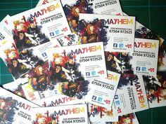 mayhem business cards