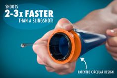 The patented circular design allows you to shoot 2-3x faster than a slingshot.