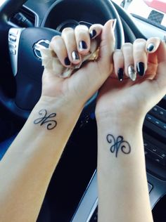 Matching mother daughter tattoos, stands for the love between a mother and daughter
