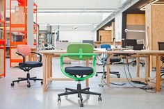 The Allstar chair by Konstantin Grcic brings colour to your office.