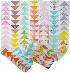 A Flock of Flying Geese Quilt II - work in progress, i want this.