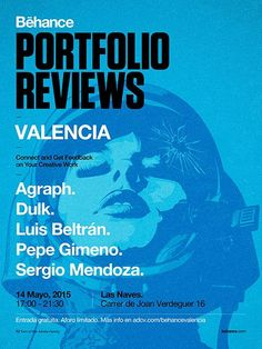 Gorgeous poster from #behancereviews Valencia
