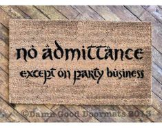 The Lord of the Rings door mat