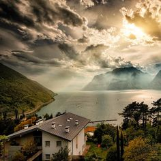 """Photo by Matteo Righi """"This is my paradise  Fantastic landscape from Torbole - Italy""""  #Beautiful #sunlight #Italy"""