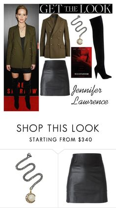 """""""Jennifer Lawrence Red Sparrow Screening in Washington DC February 15 2018"""" by valenlss ❤ liked on Polyvore featuring Sylva & Cie, McQ by Alexander McQueen and Stella Luna"""