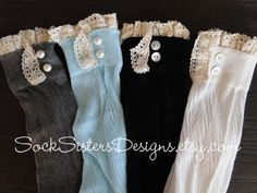 Boot Socks with Lace – Knee High Boot Socks by SockSistersDesigns http://ljsocks.com/s/boot-socks-with-lace-knee-high-boot-socks-by-socksistersdesigns/