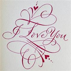 Hand Lettering - I love you I Love You Calligraphy, Calligraphy Drawing, Calligraphy Handwriting, Calligraphy Letters, Penmanship, Calligraphy Quotes, Love Caligraphy, Calligraphy Flowers, Calligraphy Background