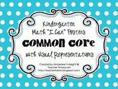 Two Fulbright Hugs ~ Teacher Time Savers: common core FREE Common Core Posters, Common Core Math, Common Core Standards, Kindergarten Freebies, Teaching Kindergarten, Math Classroom, Classroom Ideas, Classroom Quotes, Maths