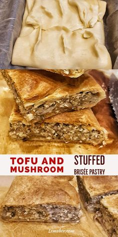 Do you need a tasty snack or a last-minute appetizer? This Tofu and mushroom stuffed brisée pastry is great when you're in need of a super easy and quick meal.you can't go wrong with it. Tofu Recipes, Vegetarian Recipes, Healthy Recipes, Last Minute Appetizer, Macro Friendly Recipes, Gym Food, Macro Meals, Stuffed Mushrooms, Stuffed Peppers