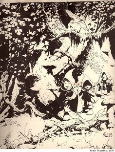 Stunning LORD OF THE RINGS ART by Frank Frazetta