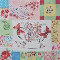 Down In The Garden BOM - by Leanne's House - Patterns.SECONDARY_SECTION$139.00: Fabric Patch: Patchwork Quilting fabrics, Moda fabric, Quilt Supplies,�Patterns