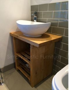 Photo Gallery For Website Solid Beam Basin Vanity Unit Wash stand Rustic Furniture Shabby chic hand made Rustic by simplyRfurniture