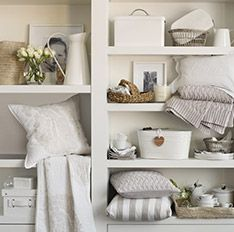 The White Company - Organised living The White Company, White Houses, Organizer, Ideal Home, Home Organization, Room Inspiration, Home Accessories, Interior Design, House Styles