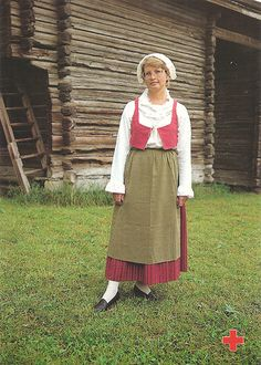 Finnish folk dress Folk Costume, Costumes, Ukraine, Costume Patterns, Female Form, People Around The World, Traditional Dresses, Beautiful People, Attractive People