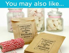 Personalised Sweet bags - wedding engagement favour candy cart vintage style | eBay